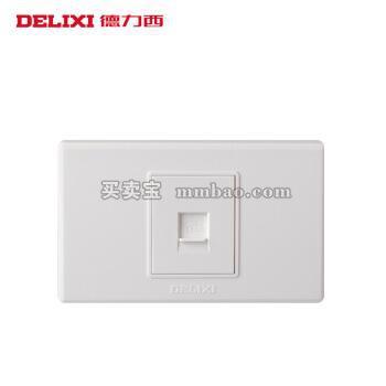 德力西电工 开关插座118系列 一位电话插座 单电话线信息面板 小号二位