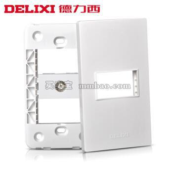 德力西120型开关插座墙壁面板CD301 有线电视插座 数字闭路线TV插