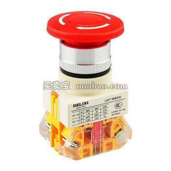 德力西 按钮;LAY7-20D 380V 氖灯 红