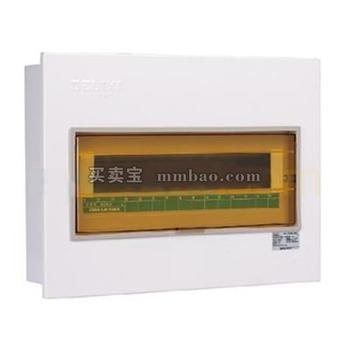 德力西 强电箱;CDPZ30S-24回路 暗装式 单排1.2MM 箱体+零地排 橡皮圈