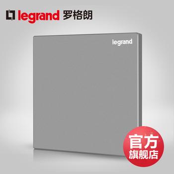 罗格朗开关 插座面板 逸景深砂银 空白面板 墙壁电源 86型