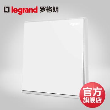 罗格朗开关 一开单控开关面板 逸景白色带银边 一位单级 墙壁电源 86型;带LED灯