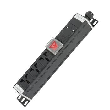 Gowone购旺 PDU机柜插座   工业插排  非常规接线板 工程插座 配线自接 3位 16A万用孔 WD3 3米  欧标插头