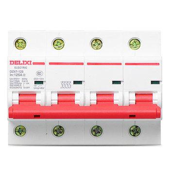 德力西电气 大电流断路器;DZ47-125 C型 4P 100A