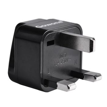 Gowone 购旺 工程级电源标准转换插头便携插座 服务器PDU电源转换器 机房电工配件 英标转10A万用孔