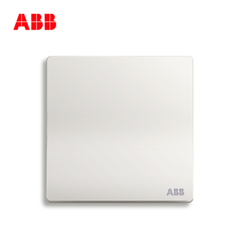 ABB开关插座 轩致无框 雅典白色 一开单控开关面板