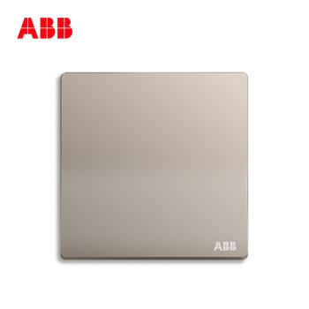 ABB开关插座 轩致无框 朝霞金色 一位单开单联单控开关面板