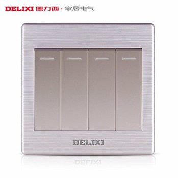 德力西电工 CD860系列 四开单控带荧光开关面板