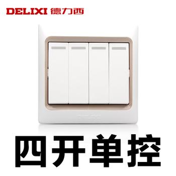 德力西电工 CD280系列 四开单控带荧光开关面板