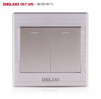 德力西电工 CD860系列 二开双控带荧光开关面板