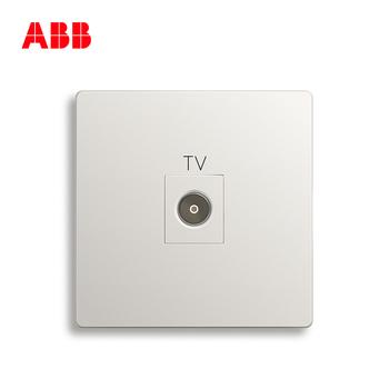 ABB开关插座 轩致无框 雅典白色 一位有线电视插座