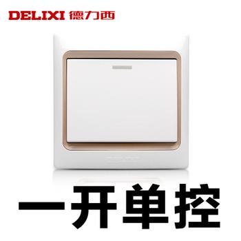 德力西电工 CD280系列 一开单控带荧光开关面板