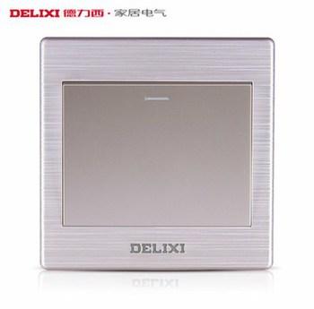德力西电工 CD860系列 一开双控带荧光开关面板