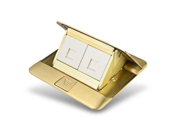 罗格朗插座 通用型铜面地插 电话电脑插座