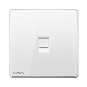 西门子开关插座面板 睿致炫白系列 6类电脑插座