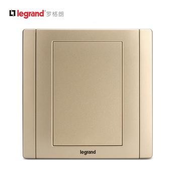 罗格朗开关 插座面板 美涵金色 空白面板墙壁电源 86型 美涵金色