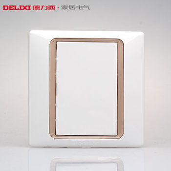 德力西CD280 空白面板 86型遮丑装饰大白板