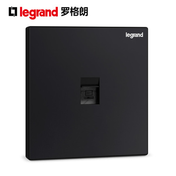 TCL罗格朗逸景K8碳素黑 一位电脑插座网络面板单口信息面板超五类