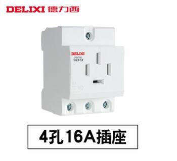 德力西DZ47X  模数化插座 三相四极  16A