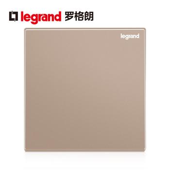 TCL罗格朗开关插座家用墙壁空白盖板白板遮挡暗装86型逸景玫瑰金