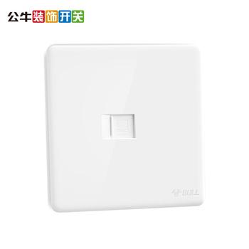 公牛一位电脑插座网络网线插座面板墙壁开关G28白色
