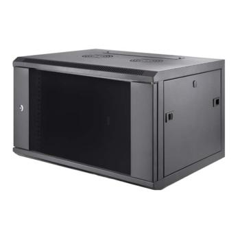 奥盛(Aosens)新款QA系列挂墙机柜 QA6409 9U 前玻后板 组装式框架 黑色