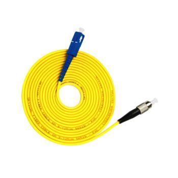 汤湖 TH-D113 SC-FC单模单芯 φ3.0 电信级光纤跳线 3米 黄色