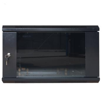图腾(TOTEN)新款W2系列挂墙机柜 W26412 12U 前玻后板 黑