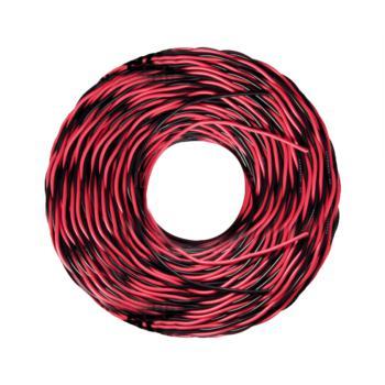 爱谱华顿(AIPU)ZR-RVS2*1.5 两芯阻燃对绞软电线 红黑 200m/卷