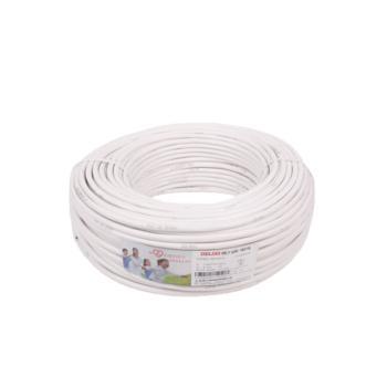 德力西(DELIXI) RVV2*1.0 软电线 白色 100/卷定制