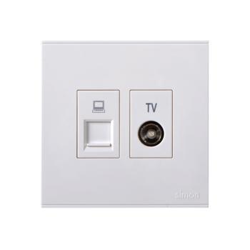 西蒙(SIMON) 电视+信息插座(白色) 725302
