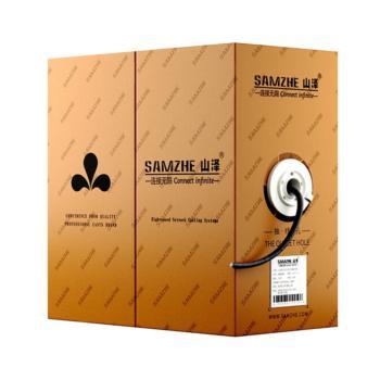 山泽(SAMZHE)超五类纯无氧非屏蔽工程网线 505CWL 灰色 50米/箱