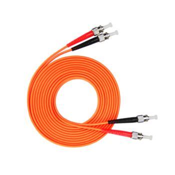 汤湖 TH-M115-30 ST-ST多模双芯 φ3.0 电信级光纤跳线 30米 橙色