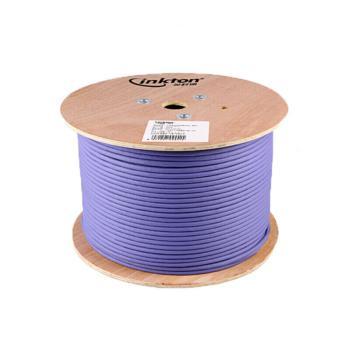 英科通 七类4对双屏蔽万兆双绞线  IC724LS3OG 305米/轴 低烟无卤LSZH 紫色