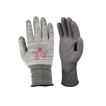 代尔塔(DELTAPLUS) 防切割手套4级 PU涂层 防割纤维 透气劳保手套 202011