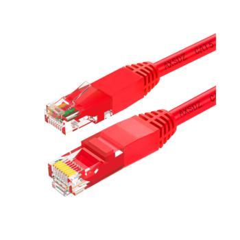 安讯仕(AXS)超五类非屏蔽UTP网络跳线圆线 5M 红色