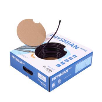 普睿司曼 意大利电线电缆超五类网络线8芯家用电脑线cat5e网线 深紫色 100米