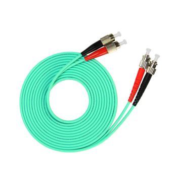 汤湖 TH-W116-30 ST-FC万兆多模双芯 φ3.0 电信级OM3光纤跳线 30米 水绿色