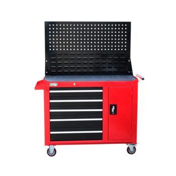 老A(LAOA)重型五层一门带挂板工具柜 红色 017130096 LA115201