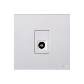 西蒙电气(SIMON)一位电视插座(白色) 725111