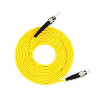 汤湖 TH-D116-10 ST-FC单模单芯 φ3.0 电信级光纤跳线 10米 黄色