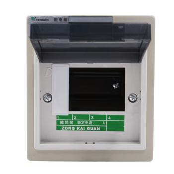 天正电气(TENGEN)明装新型室内强电箱 4回路 06060071582 配电箱 PZ30-4