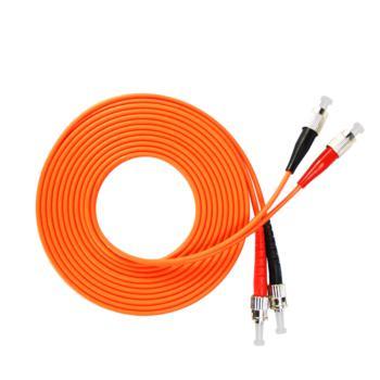 汤湖 TH-M116-20 ST-FC多模双芯 φ3.0 电信级光纤跳线 20米 橙色