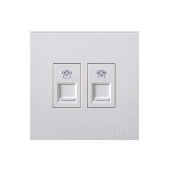 西蒙(SIMON) 二位电话插座(白色) 725224