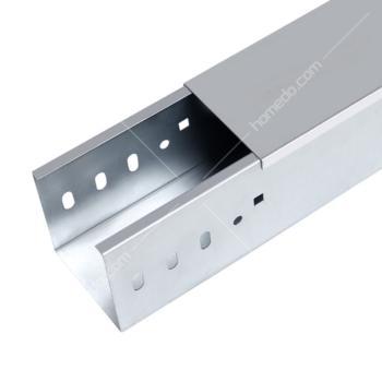 盼帛 (Pb)  100*50*0.6/0.5 镀锌槽式水平桥架