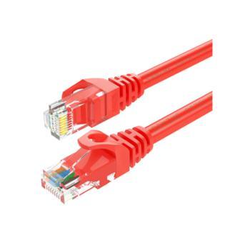山泽(SHANZE) RED-6080 六类非屏蔽网络跳线CAT6网线 红色 8米