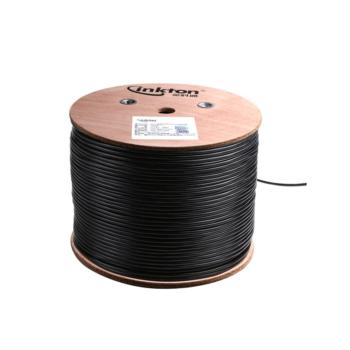 英科通 超五类室外阻水4对非屏蔽双绞线  YW301654 305米/轴 黑色