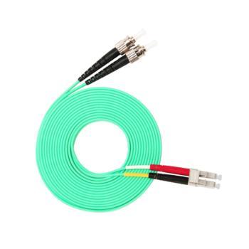 汤湖 TH-W117-15 ST-LC万兆多模双芯 φ3.0 电信级OM3光纤跳线 15米 水绿色