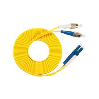 汤湖 TH-D119-10 LC-FC单模双芯 φ2.0 电信级光纤跳线 10米 黄色