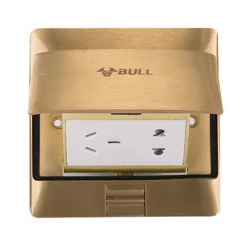 公牛(BULL)五孔地插黄铜防水地插 防水阻尼式缓冲液压地插座 GD5Z223